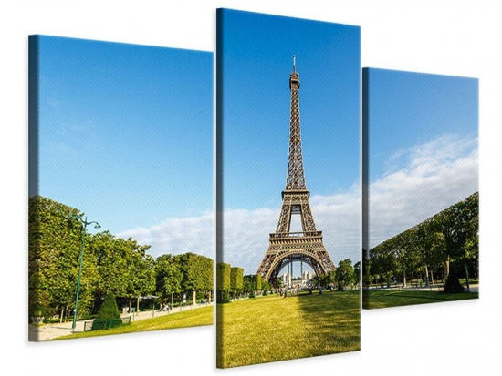 Leinwandbild 3-teilig modern Der Eiffelturm in Paris