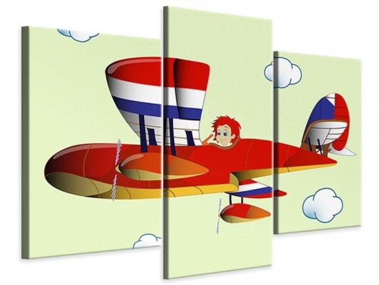 Leinwandbild 3-teilig modern Der fliegende Junge