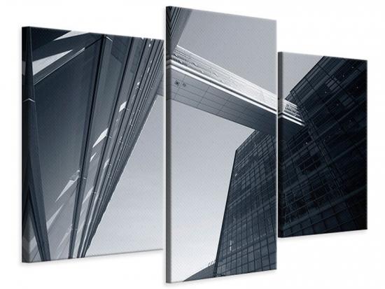 Leinwandbild 3-teilig modern Der schwarze Diamant Kopenhagens