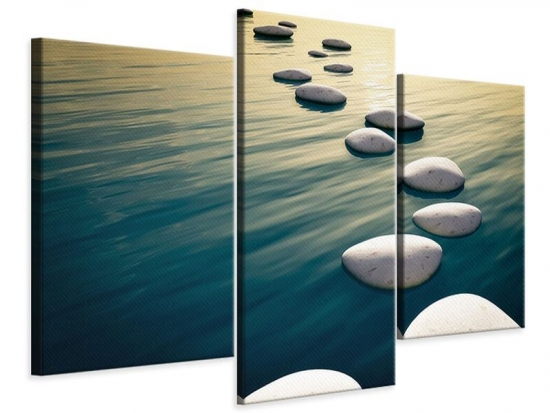 Leinwandbild 3-teilig modern Der Weg ist das Ziel