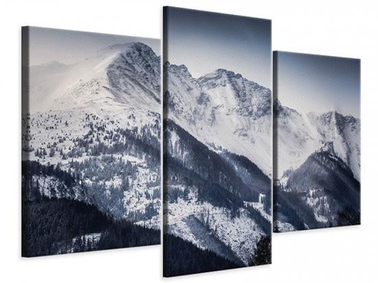 Leinwandbild 3-teilig modern Die Berge der Schweiz