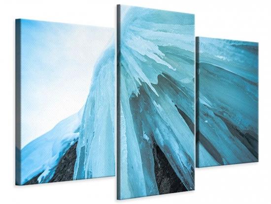 Leinwandbild 3-teilig modern Die Eiswand