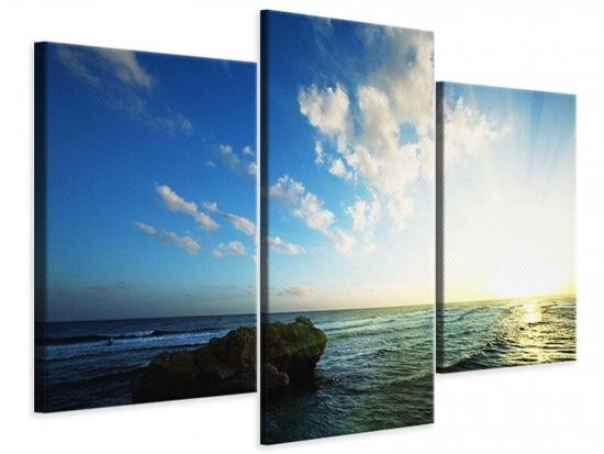 Leinwandbild 3-teilig modern Die See