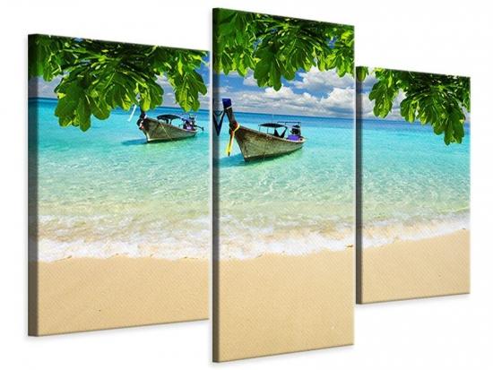 Leinwandbild 3-teilig modern Ein Blick auf das Meer