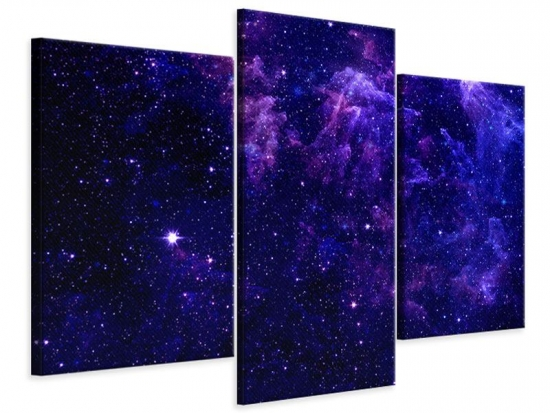 Leinwandbild 3-teilig modern Ein Himmel voll Sterne