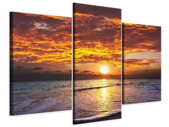 Leinwandbild 3-teilig modern Entspannung am Meer