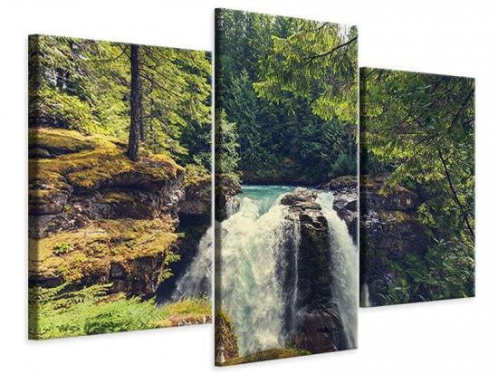 Leinwandbild 3-teilig modern Flussströmung