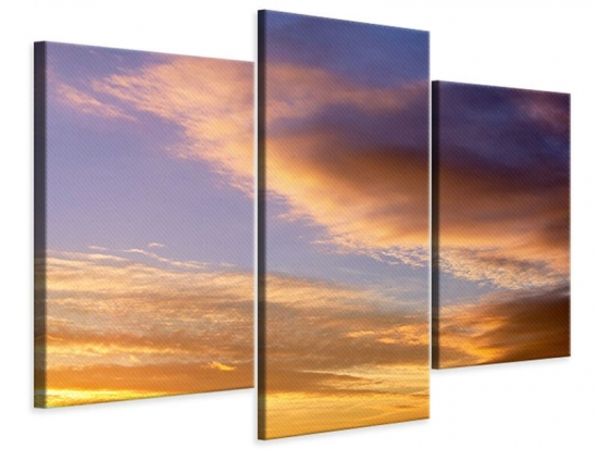 Leinwandbild 3-teilig modern Himmlisch