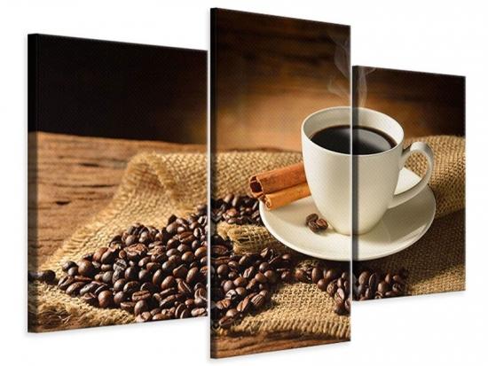 Leinwandbild 3-teilig modern Kaffeepause