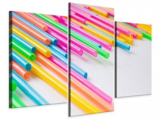 Leinwandbild 3-teilig modern Pop Art
