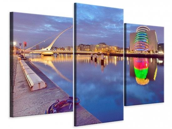 Leinwandbild 3-teilig modern Samuel Beckett Bridge