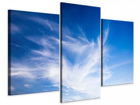 Leinwandbild 3-teilig modern Schleierwolken