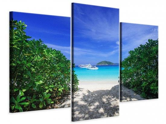 Leinwandbild 3-teilig modern Similan-Inseln