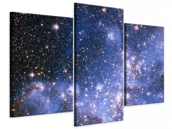 Leinwandbild 3-teilig modern Sternenhimmel