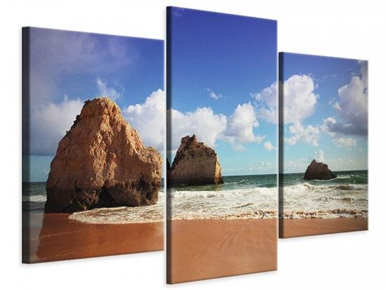 Leinwandbild 3-teilig modern Strandgedanken