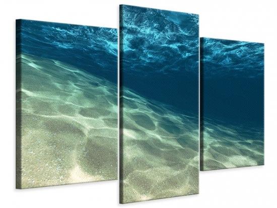 Leinwandbild 3-teilig modern Unter dem Wasser