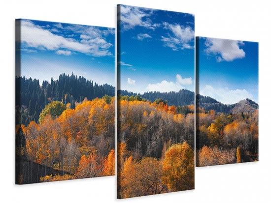 Leinwandbild 3-teilig modern Wolken ziehen auf