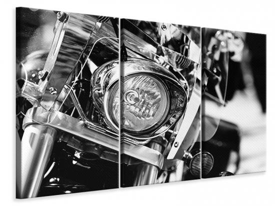 Leinwandbild 3-teilig Motorrad Close Up
