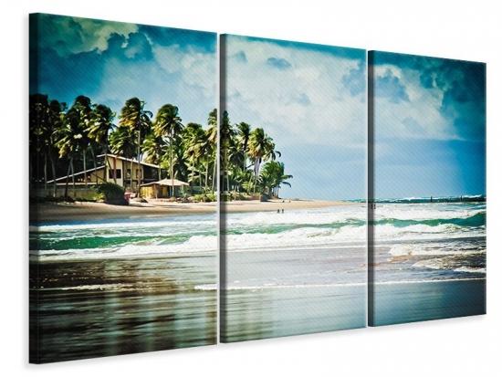 Leinwandbild 3-teilig The Beach