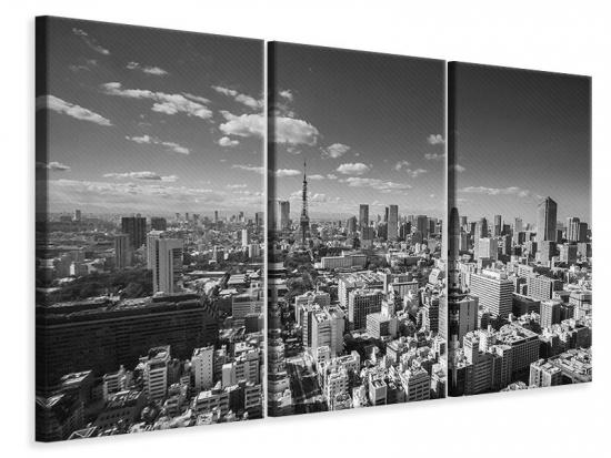 Leinwandbild 3-teilig Tokio