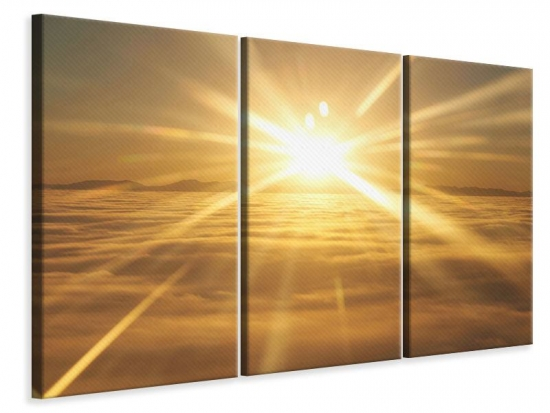 Leinwandbild 3-teilig Über dem Wolkenmeer