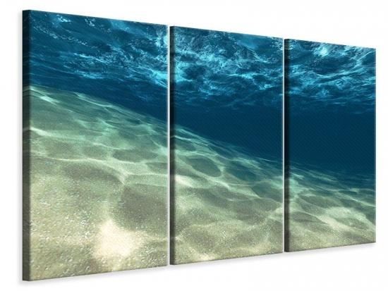 Leinwandbild 3-teilig Unter dem Wasser