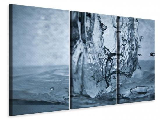 Leinwandbild 3-teilig Wasserdynamik