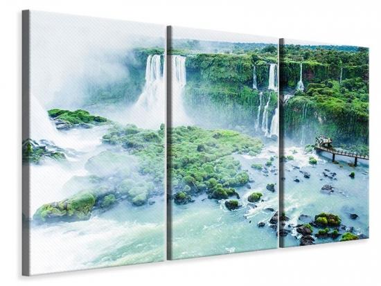 Leinwandbild 3-teilig Wasserfälle