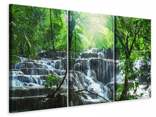 Leinwandbild 3-teilig Wasserfall Agua Azul