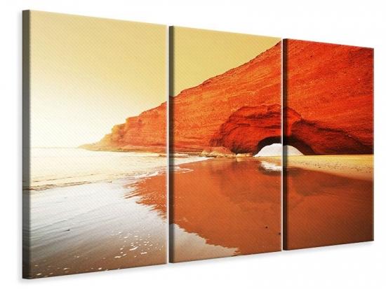 Leinwandbild 3-teilig Wasserspiegelung