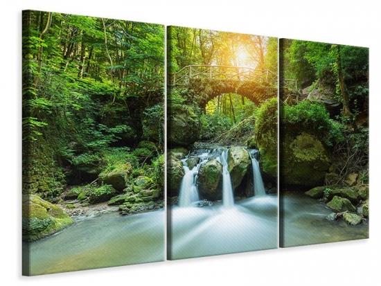 Leinwandbild 3-teilig Wasserspiegelungen