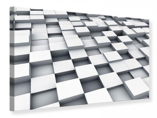 Leinwandbild 3D-Kubus