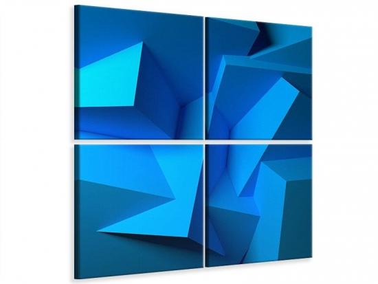 Leinwandbild 4-teilig 3D-Abstraktion