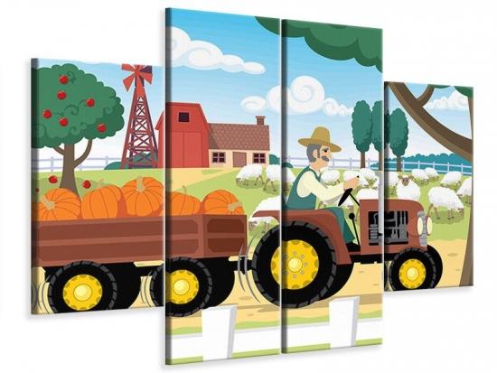 Leinwandbild 4-teilig Bauernhof