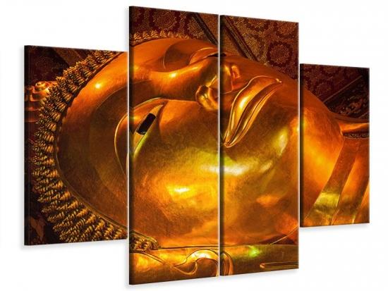 Leinwandbild 4-teilig Liegender Buddha