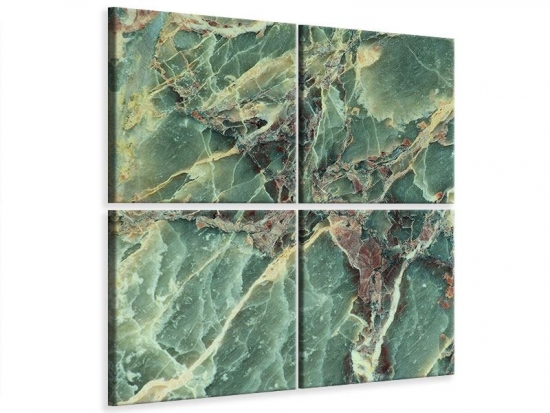 Leinwandbild 4-teilig Marmor