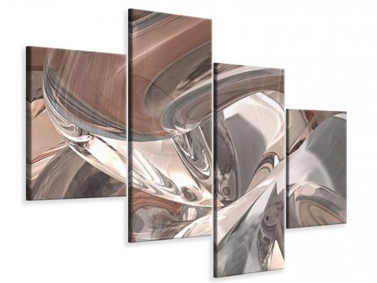 Leinwandbild 4-teilig modern Abstraktes Glasfliessen 240 x 180 cm Aussenmass|(2 x 60x150 cm, 2 x 60x90 cm)