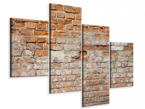 Leinwandbild 4-teilig modern Alte Klagemauer