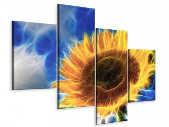 Leinwandbild 4-teilig modern Der Sonne entgegen