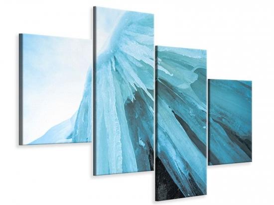 Leinwandbild 4-teilig modern Die Eiswand