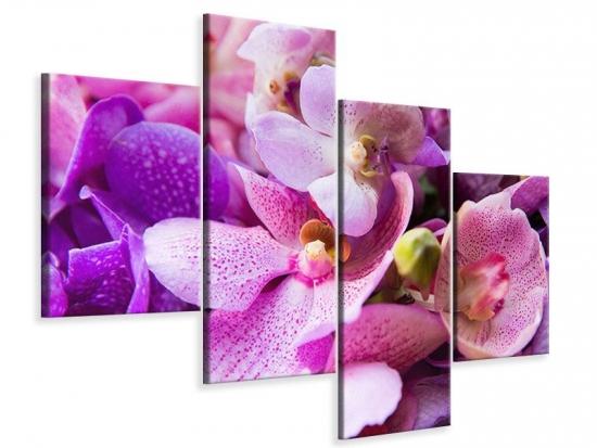 Leinwandbild 4-teilig modern Im Orchideenparadies