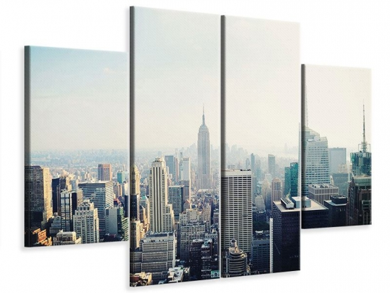 Leinwandbild 4-teilig NYC