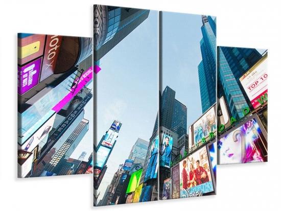 Leinwandbild 4-teilig Shopping in NYC