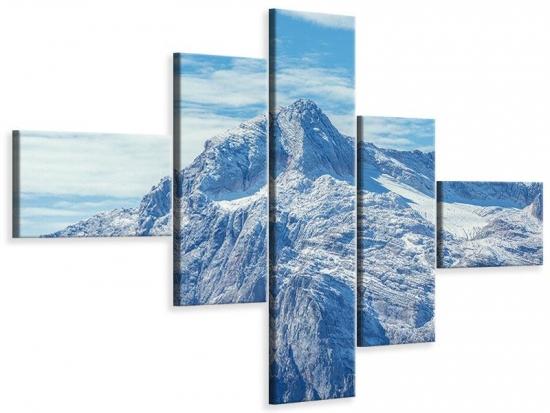 Leinwandbild 5-teilig modern Friedliche Bergstimmung