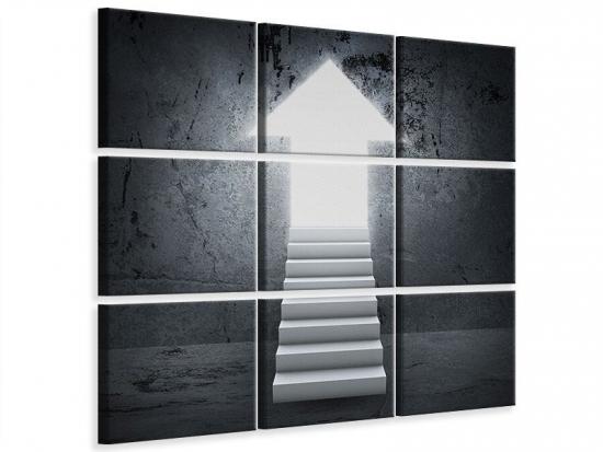 Leinwandbild 9-teilig Der Aufstieg