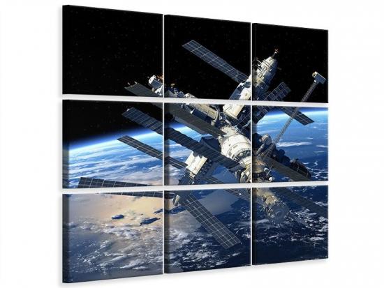 Leinwandbild 9-teilig Raumstation