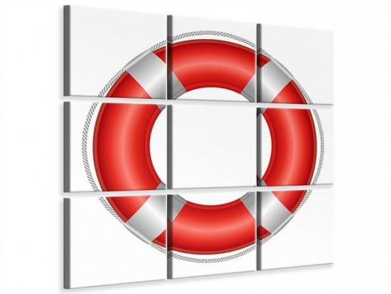 Leinwandbild 9-teilig Rettungsring