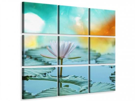 Leinwandbild 9-teilig Verträumte Lotus