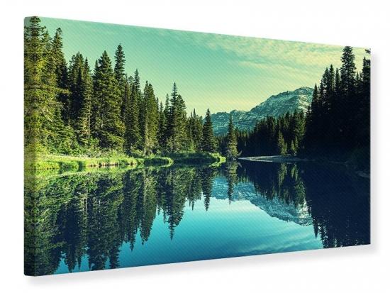 Leinwandbild Die Musik der Stille in den Bergen 120 x 80 cm