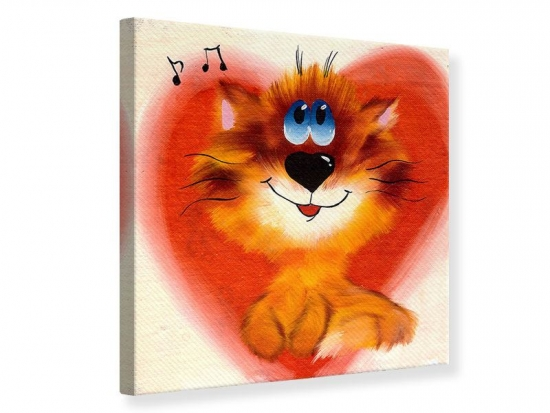 Leinwandbild Happy Cat